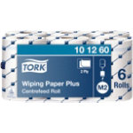 Tork Wiping Paper Centre Feed Roll 2 Ply White Pack of 6