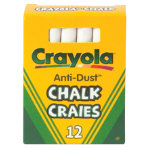 Crayola Anti dust White Chalk