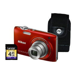 Nikon Coolpix S3100 Digital Camera With Case And 4gb Sd Card