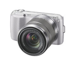Sony Nex-c3 Slr 18-55mm Lens 16.2 Megapixel Digital Camera - Silver