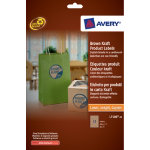Avery Brown Round Removable Product Labels 60mm diameter 12 Labels per Sheet L7106 20