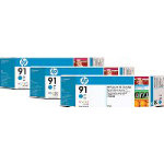 HP 91 Original Cyan Ink cartridge C9483A
