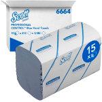 Scott Hand Towel Medium 1 ply Pack 15