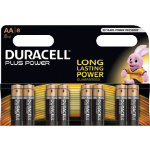 Duracell Plus Power alkaline 15V AA batteries pack of 8