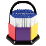 Swash Komfigrip Handwriting Pens in a Classroom Organiser  Blue Pack of 180