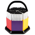 Swash Komfigrip Handwriting Pens in a Classroom Organiser Black Pack of 180