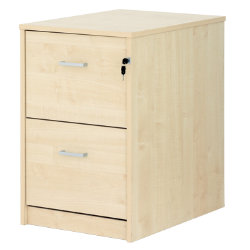 Office Depot Classic two-drawer filing cabinet maple-effect