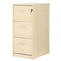 Office Depot Classic three-drawer filing cabinet maple-effect