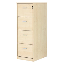 Office Depot Classic four-drawer filing cabinet maple