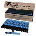 Show me Slim Barrel Drywipe Pens Fine Black Pack of 100