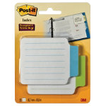 Post it Super Sticky Notes Tabs 10 Blue 10 Green Pack of 20