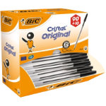 BIC Ballpoint Pen Cristal Medium Black Pack 90