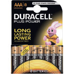 Duracell Plus Power alkaline 15V AAA batteries pack of 8