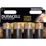 Duracell Plus Power MN1300 alkaline D batteries pack of 4