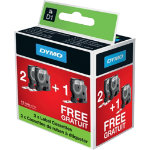 DYMO Labeling Tape D1 21 FREE 12 mm x 7 m Black White