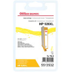 Office Depot compatible HP 920XL CD972A yellow ink cartridge