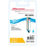 Office Depot compatible HP 920XL CD972A cyan ink cartridge