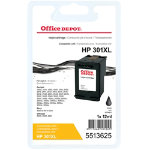 Office Depot Compatible HP 301XL Hi Yield Black Inkjet Cartridge