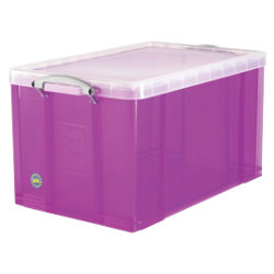 Really Useful Box Translucent Purple 84 Litre