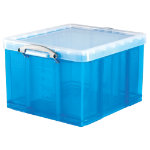 Really Useful Box polypropylene plastic storage box 42 litre 310 x 440 x 520mm H x W x D in blue