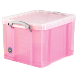really useful box polypropylene plastic storage box 35 litre 310 x 390 x 480mm h x w x d in pink. Black Bedroom Furniture Sets. Home Design Ideas