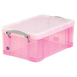 Really Useful Box Translucent Pink 9 Litre