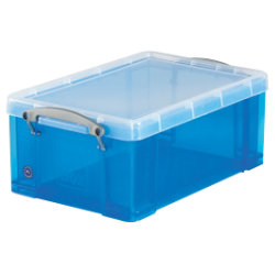 Really Useful Box polypropylene plastic storage box 9 litre A4  blue