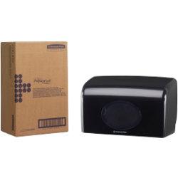 AQUARIUS Toilet Roll Dispenser Small Roll Plastic Black