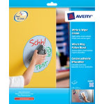 Avery 24911 Write and Wipe Blue Circle Stickers 4 Labels per Pack