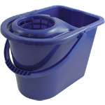 15L Traditional Mop Bucket And Wringer Blue