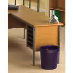 Classic Universal desk return unit with pedestal beech