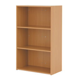 Classic Office Furniture Medium Bookcase Beech 76W x 31D x 1215H cm