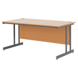 Classic plus 1200mm straight cantilever desk in beech effect by viking - Viking office desk ...