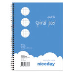 Niceday Quadrille Ruled A5 Spiral Pad pack 5