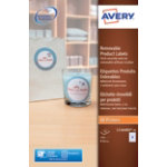 Avery Round Removable Product Labels 60mm diameter 12 Labels per Sheet L7104REV 20