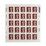 Royal Mail 5 pence stamps pack of 25