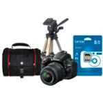 Nikon D5100 Digital SLR Camera Bundle With Lens SD Card Tripod
