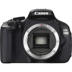 Canon EOS 600D 18 Megapixel Digital SLR Camera Body - Black