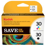 Kodak 30B 30C Original Ink Cartridge 8039745 Black 3 Colours Pack 2