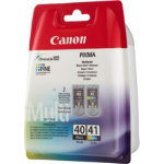 Canon PG 40 CL 41 Original Black Cyan Magenta Yellow Ink Cartridge