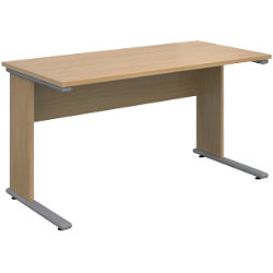 Dams international straight desk ub1380o oak 732 x 1380 x 680 mm by viking - Viking office desk ...
