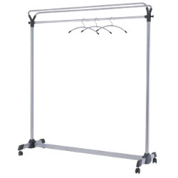 Large Capacity Mobile Garment Rack With Hangers