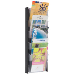 Alba Wall Mounted Display 5 X A5 Pockets Black