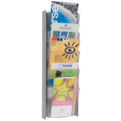 Alba Wall Mounted Display 5 X A5 Pockets Grey