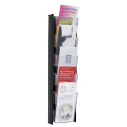 Alba Wall Mounted Display 5 X 1 3 A4 Pockets Black