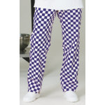 Alexandra Chef Trouser Full Elastic Royal With White size XL unhemmed
