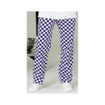 Alexandra Chef Trouser Full Elastic Royal With White size large unhemmed