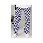 Alexandra chef trousers full elastic royal blue white check small