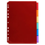 Exacompta Dividers 3906E A4 Assorted 6 tabs Polypropylene Blank