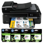 HP Officejet 7500A A3 wireless e Print multifunction printer ink bundle